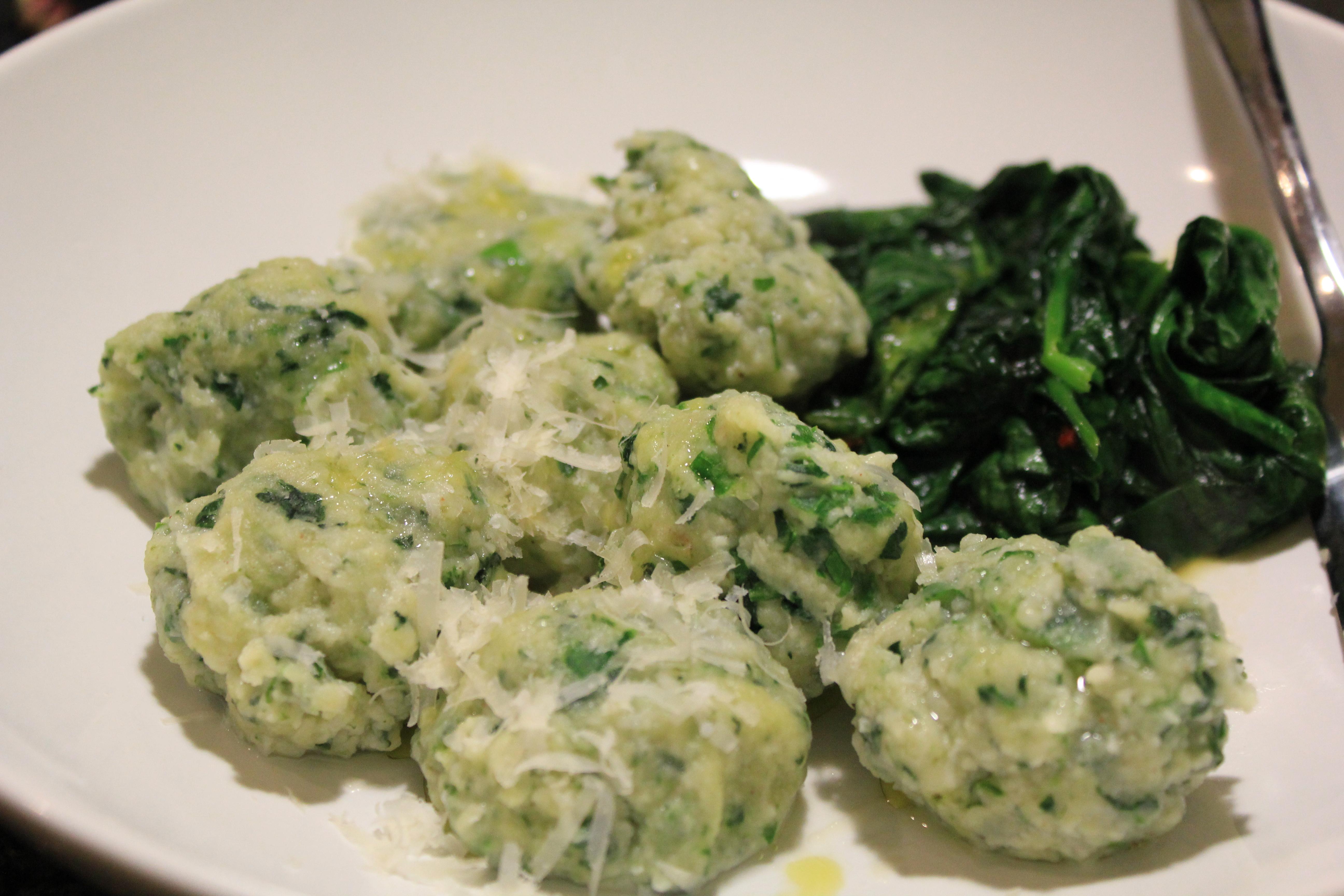 Spinach and Arugula Gnocchi Clara Persis