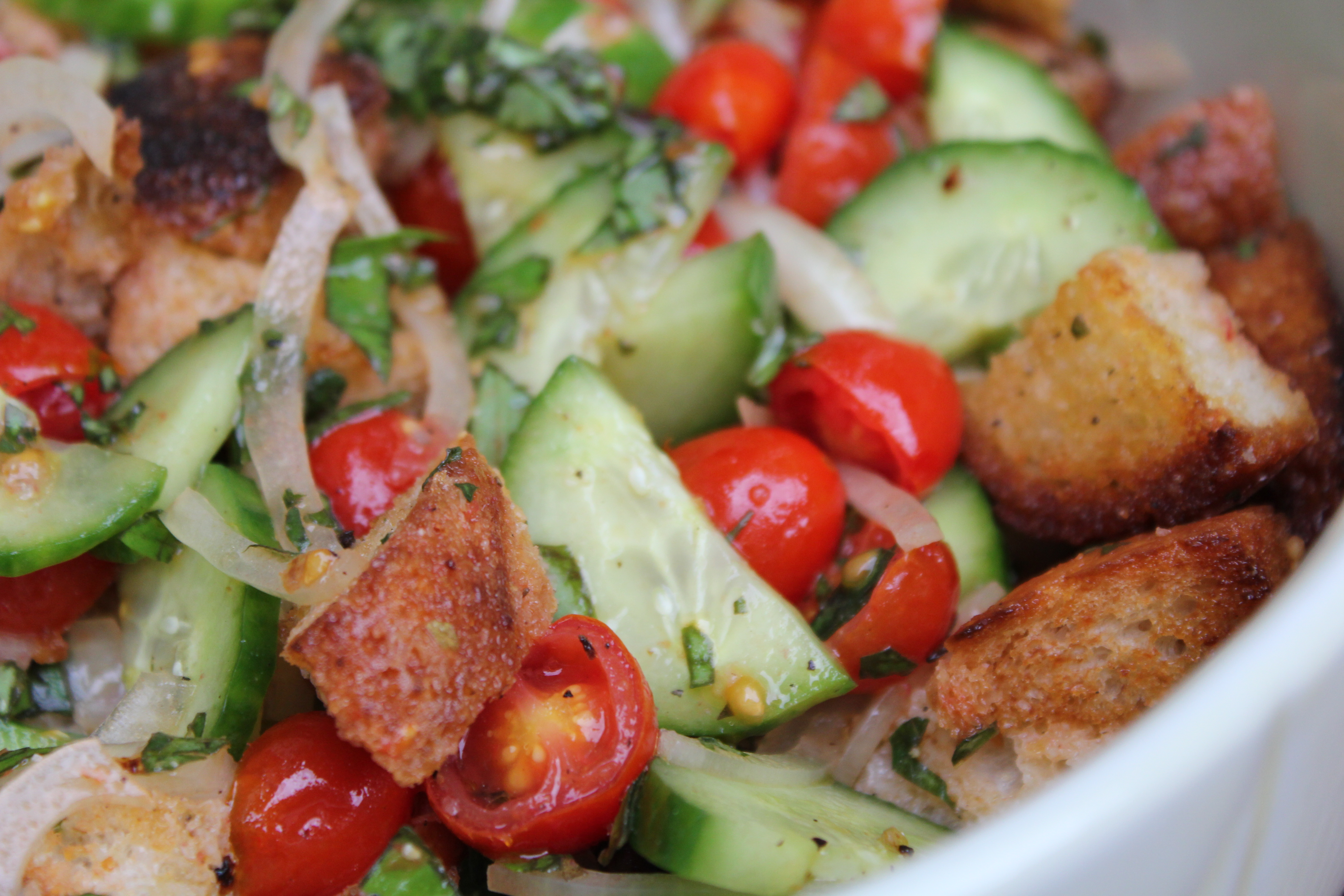 Roasted Tomato Panzanella adapted from the Barefoot Contessa's Greek ...