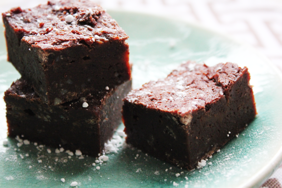Sweet and Salty Brownies from Baked Explorations/ Dana Treat