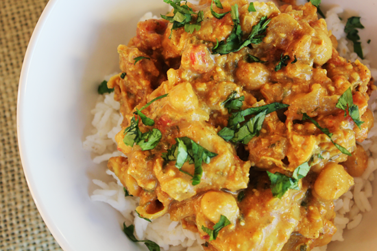 Chicken Curry with Cashews adapted from Gourmet